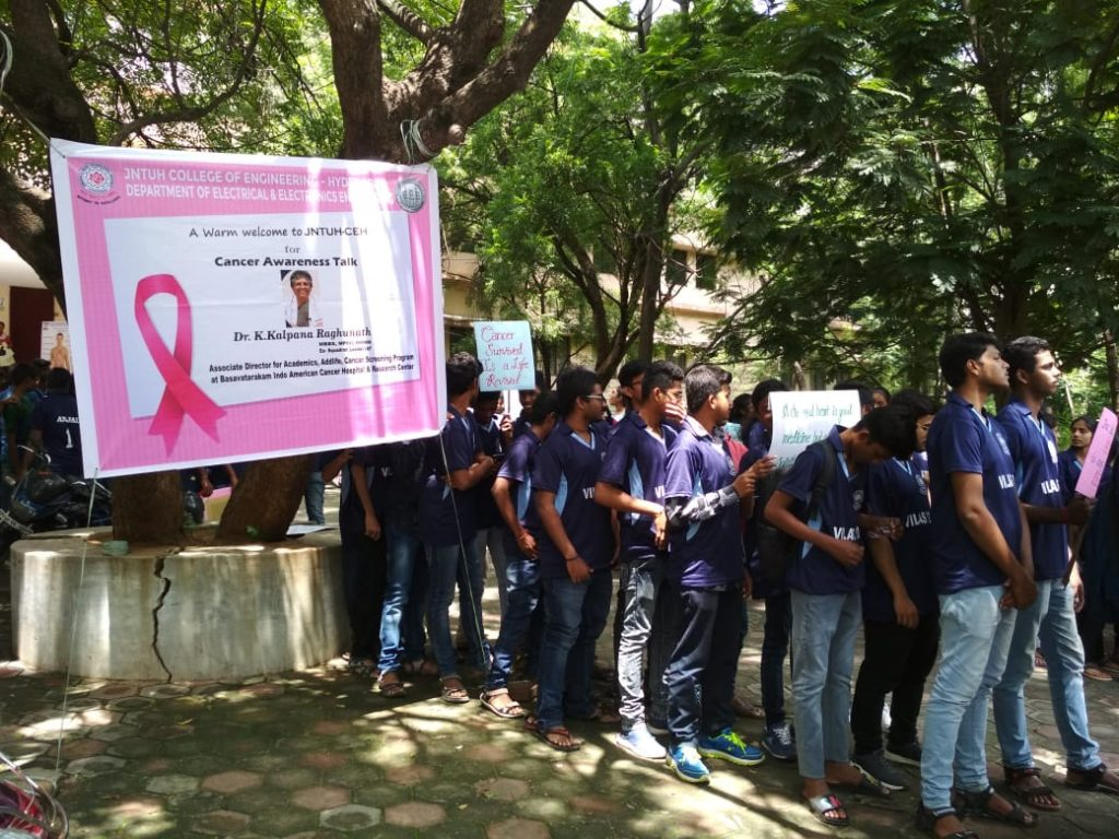 Basavatarakam Indo American Cancer Hospital & Research Institute cancer screening and Awareness program at BEL and JNTU Kukatpally