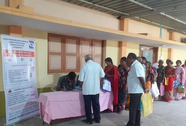 Basavatarakam Cancer Hospital 2019 Dec Free Cancer Screening Camp at Repalle, Kolluru, Sangam Jagarlamudi