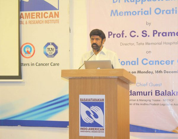 Basavatarakam Cancer Hospital Dr.Kuppuswamy memorial oration on 16th Dec 2019