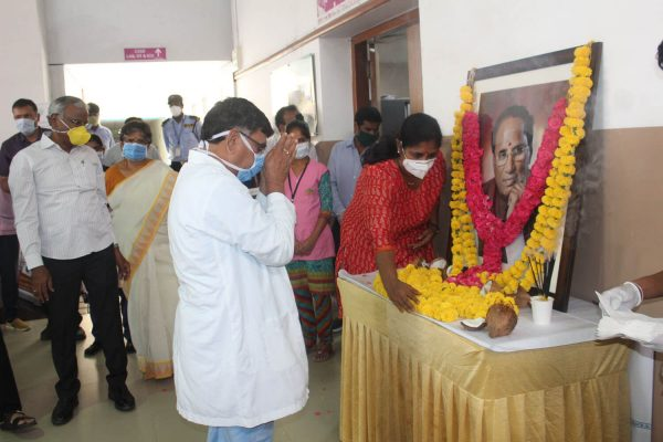 Basavatarakam Indo American Cancer Hospital Hyderabad 73rd birth anniversary of our Honourable Founder Chairman Sri Kodela Siva Prasada Rao