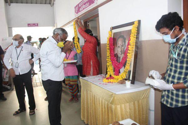 Basavatarakam Indo American Hospital Hyderabad 73rd birth anniversary of our Honourable Founder Chairman Sri Kodela Siva Prasada Rao