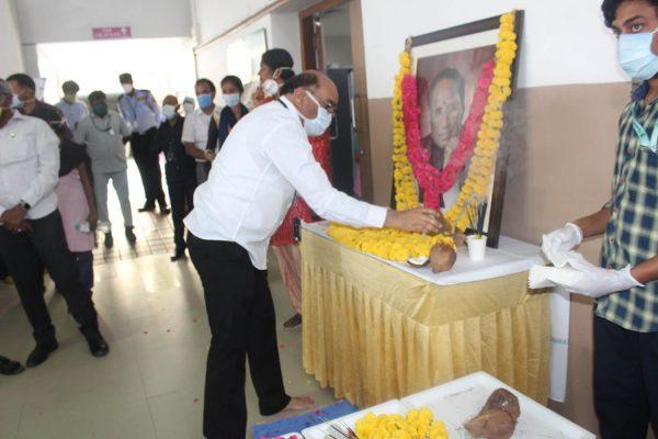 Cancer Hospital Hyderabad Basavatarakam Indo American Hospital 73rd birth anniversary of Late Sri Kodela Siva Prasada Rao