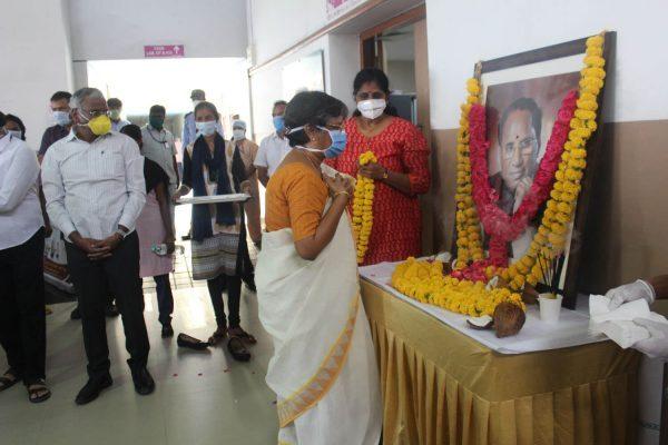 Indo American Cancer Hospital Hyderabad 73rd birth anniversary of our Honourable Founder Chairman Sri Kodela Siva Prasada Rao
