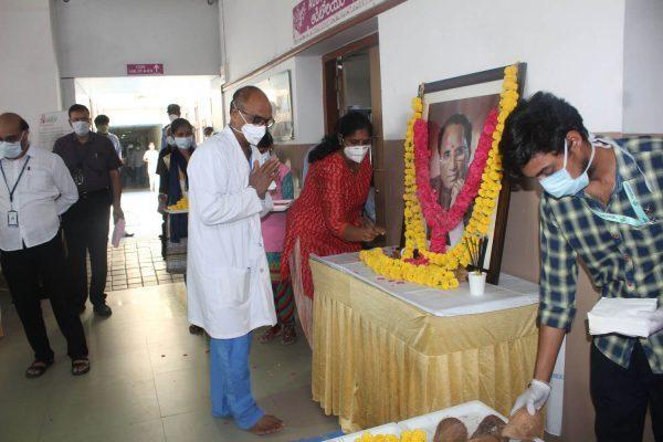 Indo American Hospital Hyderabad 73rd birth anniversary of our Honourable Founder Chairman Sri Kodela Siva Prasada Rao