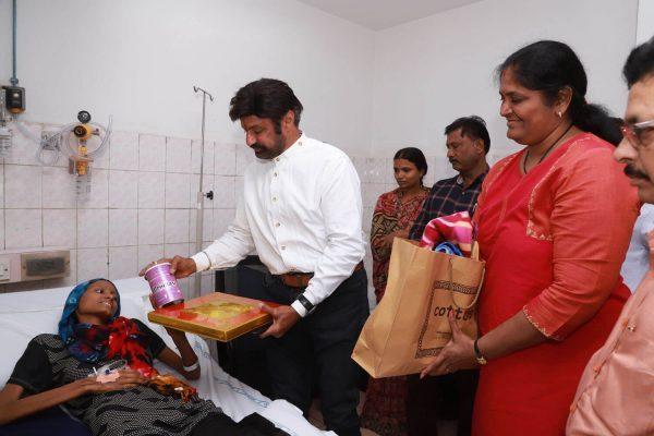 Our Hon'ble Chairman Helps a Bone Cancer Patient basavatarakam cancer hospital