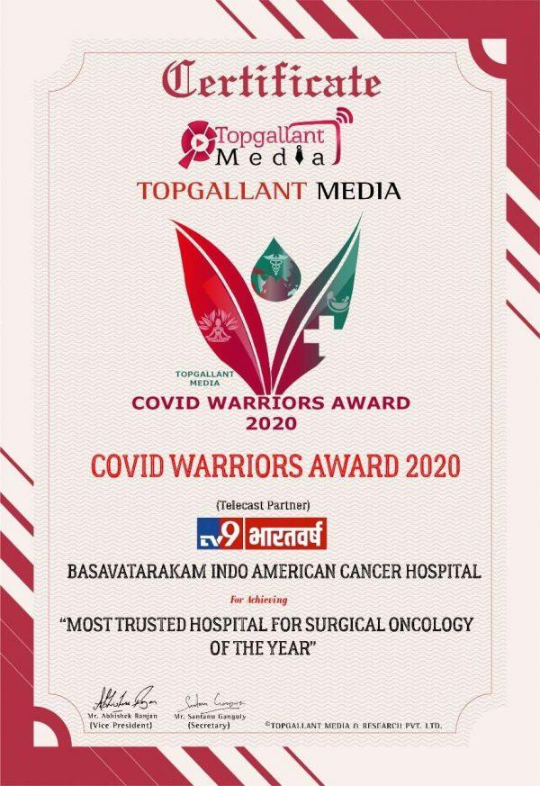 best cancer hospital in Hyderabad india Basavatarakam Indo American Cancer Hospital