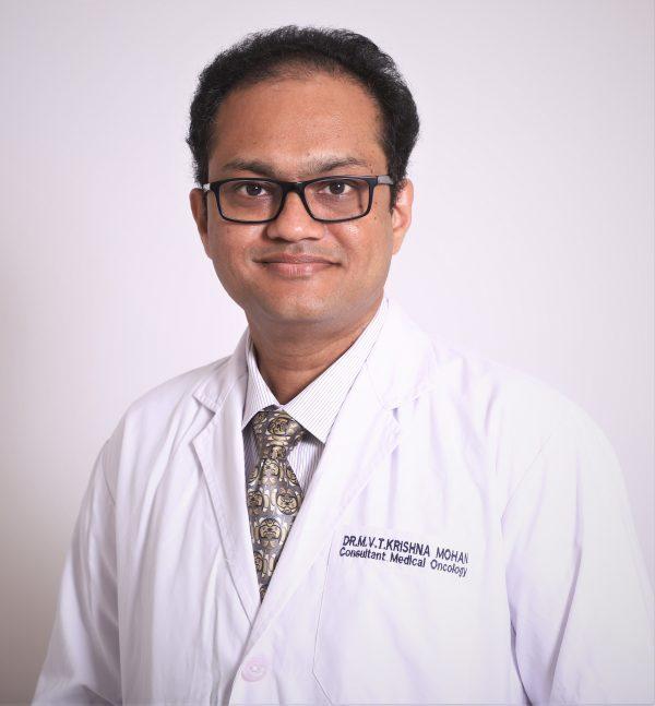 Best Medical Oncology doctor in hyderabad Dr MVT Krishna Mohan Basavatarakam Indo American Cancer Hospital - Medical Oncology