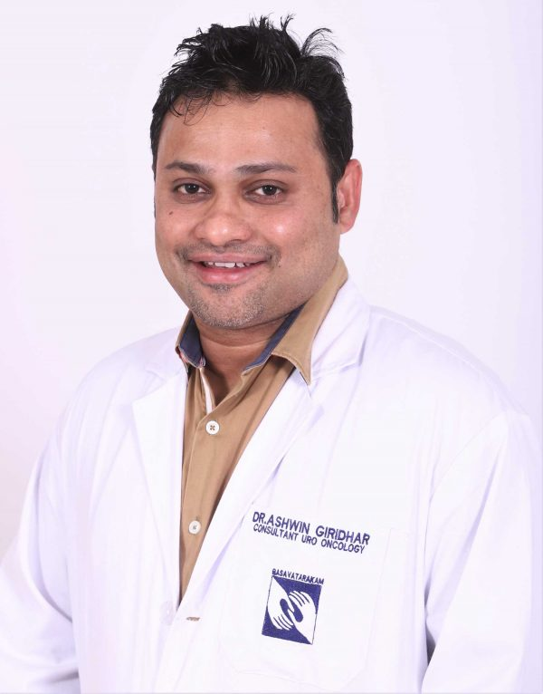 best cancer hospital best uro oncologist dr ashwin giridhar basavatarakam cancer hospital